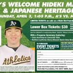 The Nichi Bei celebrates Japanese Heritage Day with the Oakland A's