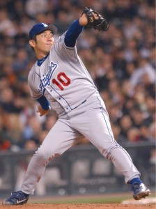 Los Angeles Dodgers pitcher Hideo Nomo. Kyodo News file photo