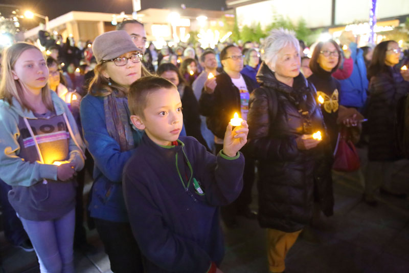 San Francisco's Japantown holds vigil against post-election hate