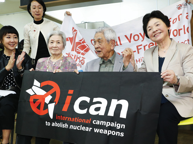 Japanese ICAN member congratulates 'hibakusha' for Nobel Peace Prize