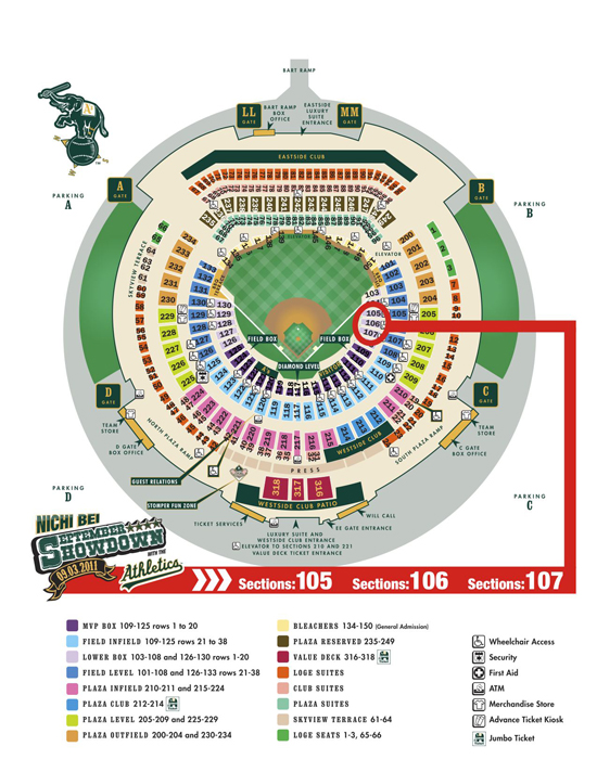 Seating Map – Oakland Coliseum (O.co Coliseum) » Nichi Bei