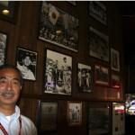 BASEBALL FAN — Kazuyoshi Arai at Lefty O'Doul's at Union Square, one of his favorite hangouts. photo courtesy of Atsuko Saito