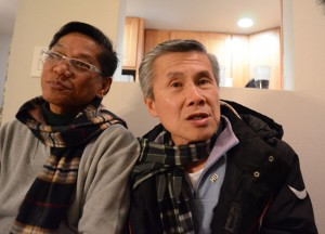 GAPA 35-PLUS GROUP DINES TOGETHER — Benjamin Aquino and his partner, Dion Wong. photo by  Steven Underhill/ Bay Area Reporter