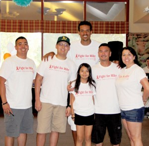 ON THE COVER: (Left to right) Older brother Anthony Sakata, Michael Sakata, Los Angeles Clippers forward Matt Barnes (center back), 		younger sister Cristina (center front), father Tracy Sakata and mother Corina Sakata. Michael Sakata is currently 			fighting against leukemia.  photo by IIyssa Pahia