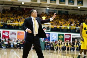 HEADED TO HYOGO — Then-University of San Francisco Dons Assistant Coach Danny Yoshikawa, pictured here during a game at St. Mary's College, was recently named the head coach of the Hyogo Storks of the newly-formed National Basketball League in Japan. photo courtesy of Hyogo Storks
