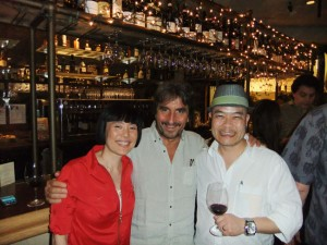 The Gochiso and the Missus get to wine and dine with Giorgio Rivetti (center).
