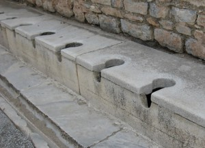 HISTORY — The ancient toilets in Ephesus lacked partitions. photo by The Kaeru Kid