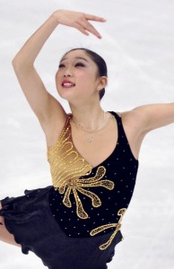 OLYMPIC DREAMS — Mirai Nagasu, who placed fourth in the Vancouver Olympics, at the World Figure Skating Championships in Turin, Italy, on March 26, 2010.  Ashley Wagner took second place at Skate America in Detroit on Oct. 20, 2013. Kyodo file photo