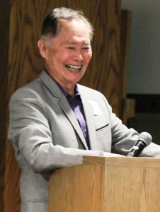 BEING GAY AND BUDDHIST – Keynote speaker George Takei.  photo by Keith Daigo Uyemura