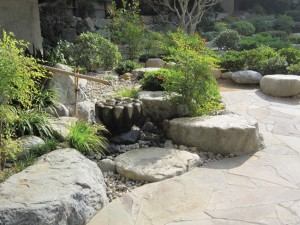 The James Irvine Japanese Garden at the Japanese American Cultural & Community Center in Los Angeles' Little Tokyo.  photo courtesy of Takeo Uesugi & Associates