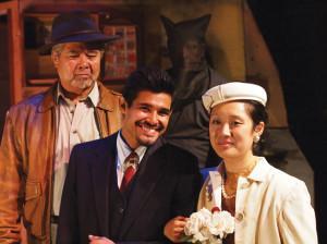 "LOVE AND WAR — Randall Nakano, Andres Ortiz and Melanie Arii Mah in ""Valley of the Heart."" photo by Robert Eliason"