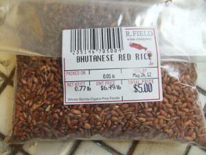 Red rice. photo by Ryan Tatsumoto