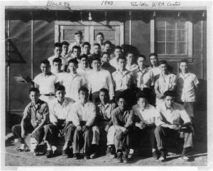 "Historical photo of Tule Lake Block 42, courtesy of brothers Mamoru ""Mori"" and James Tanimoto"