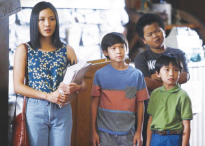 Constance Wu, Forrest Wheeler, Hudson Yang and Ian Chen photo by Jordin Althaus-ABC - © 2015 American Broadcasting Companies, Inc. All rights reserved