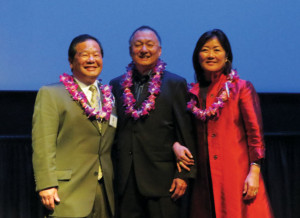 HONOREES — Steve Ishii, Dean Ito Taylor and Ellen Kiyomizu. photo by Tomo Hirai/Nichi Bei Weekly
