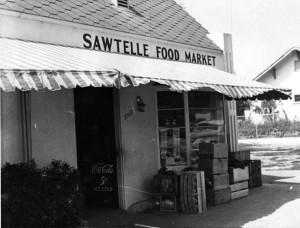 The Sawtelle Food Market, circa 1950s. photo courtesy of Jack Fujimoto
