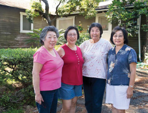 Cindy Yuge, left with her sisters Joyce Yuge, Carolyn Yuge, Nadine Ishizu are about to lose their home that's been in her family from the late 1900's. A petition started this week aims to preserve the southwest portion of the Scripps/Kellogg Estate in Altadena, which contains a historic bungalow built by the Yuge family after WWI.  In 1927 patriarch Takeo Yuge began working with his uncle, who was a caretaker for the Scripps family. After Takeo married, he and his wife Fumiko lived on the property as he continued to care for the grounds. During WWII, though, the family was removed and sent to a Japanese Internment camp for several years. When they returned to the South Bay, the Kelloggs found the Yuges and asked them to return to the property. Takeo had a handshake agreement with property owner William Scripps Kellogg, promising the family could remain on the land as long as Takeo and Fumiko were alive.  The Pasadena Waldorf School, now owns the property, and sent notice to the daughters asking them to vacate the premises by June. School officials said a long-term development plan includes razing the bungalow and surrounding garden to make way for more classrooms. photo by Walt Mancini/Pasadena Star-News