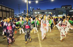 Bon Odori at the Los Angeles Nishi Hongwanji. photo by Glen Tao/Nishi Hongwanji