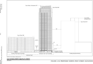 PROPOSED CONDO — ADCO wishes to build a 36-story condo in Japantown.       courtesy of San Francisco Planning Department