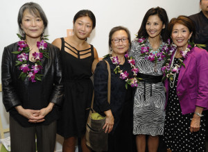 "GROUNDBREAKING FILM CELEBRATED — The Nichi Bei Foundation held a 20th anniversary presentation of Kayo Hatta's ""Picture Bride,"" the first theatrically-released feature film written, directed and produced by Asian American women, Sept. 25 at New People Cinema in San Francisco's Japantown. At left: Mari Hatta, Megumi Hatta-Wong, Julie Yumi Hatta, actress Tamlyn Tomita and moderator Jan Yanehiro. photo by William Lee"