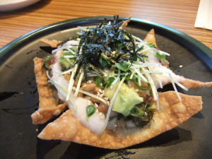 Gochiso Gourmet's Nattochos. photo by Ryan Tatsumoto