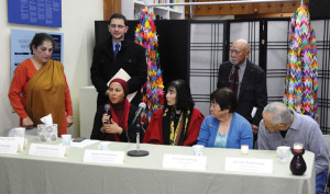 Members of the Japanese American community gather in solidarity with  Muslim and Arab Americans at a Dec. 22, 2015 press conference at the  National Japanese American Historical Society in San Francisco's  Japantown. photo by Tomo Hirai/Nichi Bei Weekly