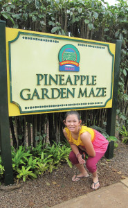 The Pollywog takes on the pineapple maze. photo by The Kaeru Kid