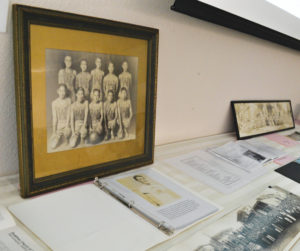 JAPANTOWN'S PAST — Several photos and artifacts were displayed at the event (above). photo by Heather Ito/Nichi Bei Weekly