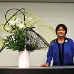 YOUNG LEARNER: Sogetsu instructor Kika Shibata's ikebana interest started early