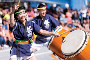 BON ODORI ­— San Jose Taiko perfomed at the annual San Jose Obon festival, which was held in the heart of the city's Japantown July 9-10. San Jose Obon's Bon Odori on Saturday, July 9 reached a new record, with 1,517 dancers. photo by Scott Nakajima / Nakajima Photography