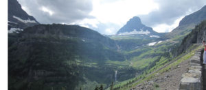 The beautiful view on the Going to the Sun Road. photo by The Kaeru Kid