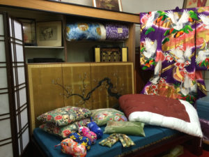 Nichi Bei Bussan offers a selection of decorative and functional items such as zabuton, futon, byobu and noren. photo by Arlene Damron