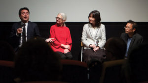 "SUGIHARA FILM BRINGS DESCENDANTS TOGETHER ­— The Sept. 10 San Francisco premiere of ""Persona Non Grata"" by director Cellin Gluck brought together descendants of both Chiune Sugihara  and the Jewish refugees he saved. ABOVE: Cellin Gluck, Debby Graudenz and Madoka Sugihara."