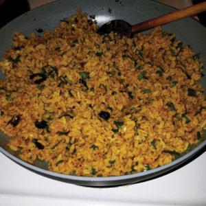 Vegan curried fried rice