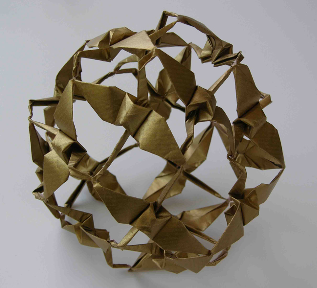 The Peace Sphere Far Left Folded By Linda Mihara From One