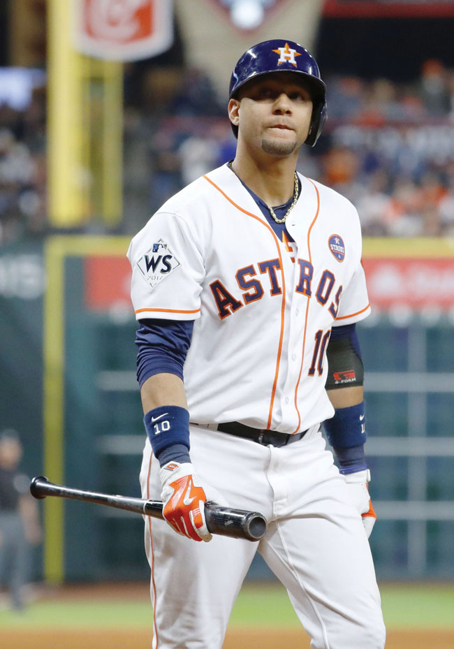 Astros player's racist gesture on display during World Series