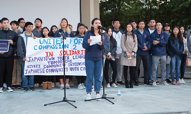 S.F. Japantown vigil opposes family separations and travel ban