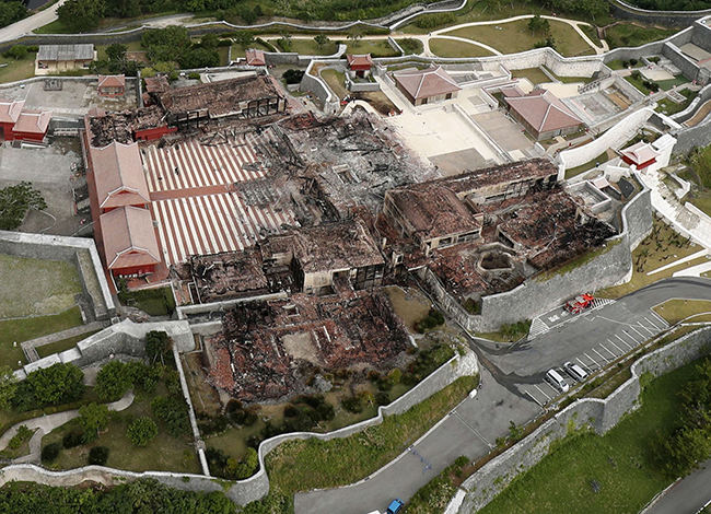 Okinawa castle at World Heritage site destroyed in predawn fire
