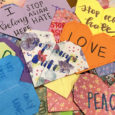 Spreading love through origami hearts